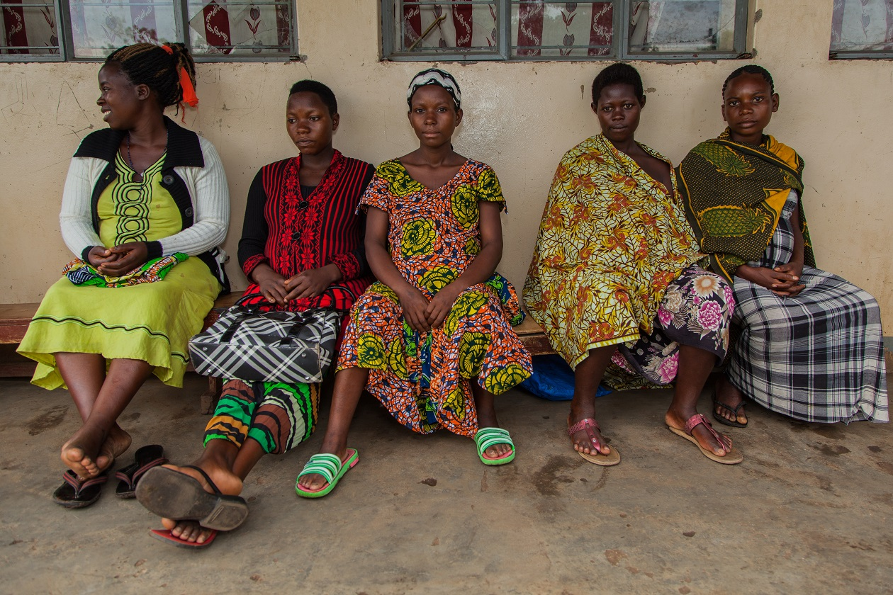 Expectant mothers wait for antenatal class