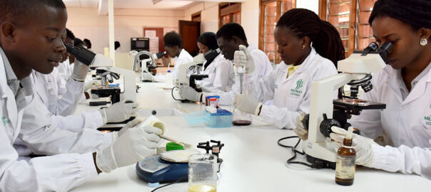 Medical students at MildMay School of Public Health